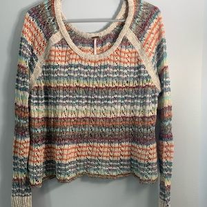 Free People Multicolored Long Sleeve Sweater